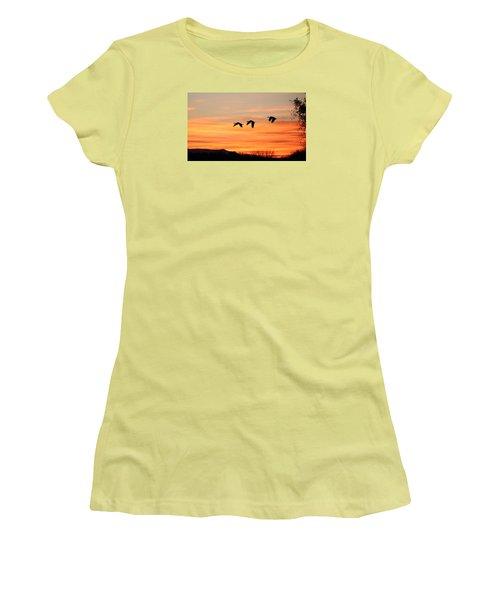 Sandhill Sunrise 2 Women's T-Shirt (Athletic Fit)