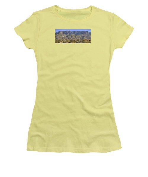 Sandia Mountain Panorama Women's T-Shirt (Junior Cut) by Alan Toepfer