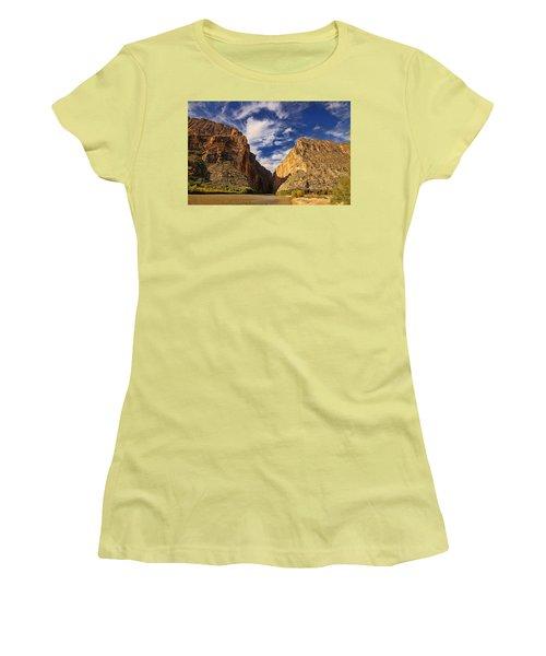 Santa Elena Canyon 3 Women's T-Shirt (Junior Cut) by Judy Vincent