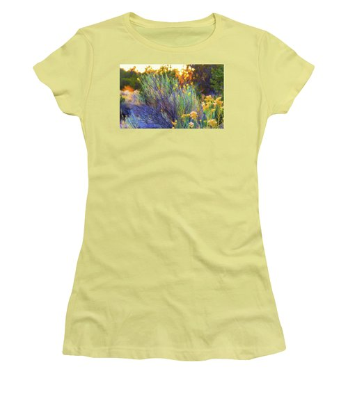 Women's T-Shirt (Junior Cut) featuring the photograph Santa Fe Beauty by Stephen Anderson