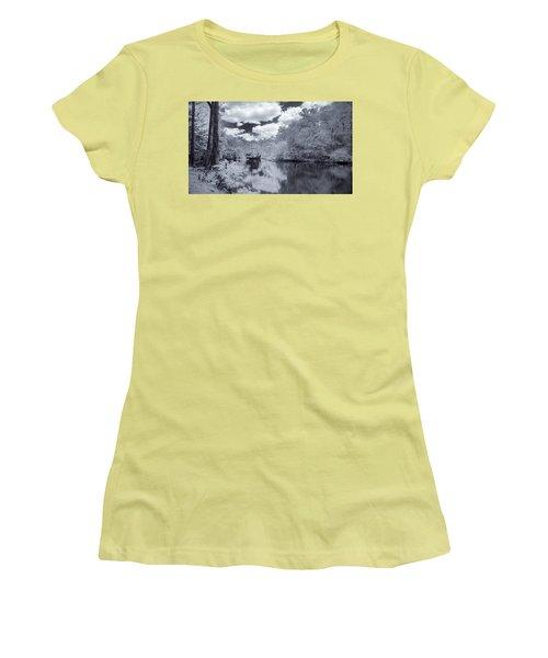 Women's T-Shirt (Junior Cut) featuring the photograph Santa Fe River Reflections by Louis Ferreira