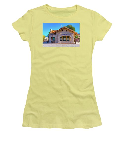 Women's T-Shirt (Junior Cut) featuring the photograph Santa Fe Station by Stephen Anderson