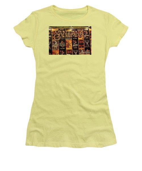 Santana House Of Blues Women's T-Shirt (Junior Cut) by Chuck Kuhn
