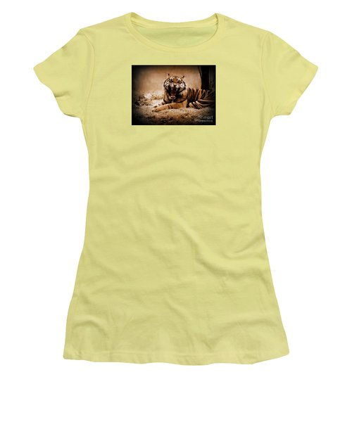 Saying Hello Women's T-Shirt (Junior Cut) by Lisa L Silva