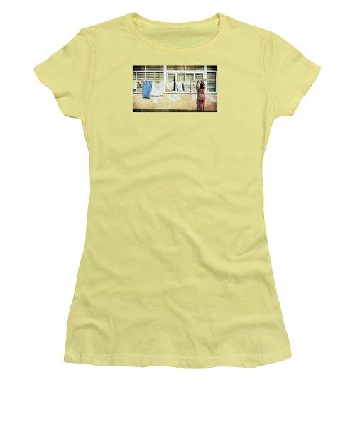 Scene Of Daily Life Women's T-Shirt (Junior Cut) by Vittorio Chiampan