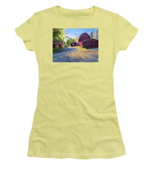 Schober's Barn At Sunset Women's T-Shirt (Athletic Fit)