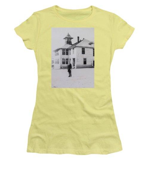 School 1901 Back Women's T-Shirt (Athletic Fit)
