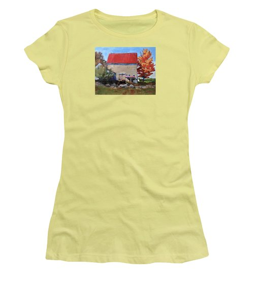 Schoolhouse Farm, Warren, Maine Women's T-Shirt (Athletic Fit)