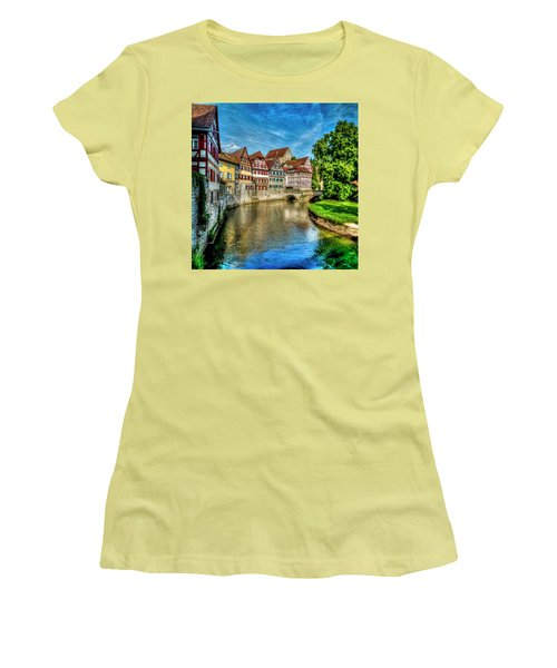 Women's T-Shirt (Athletic Fit) featuring the photograph Schwabish Hall by David Morefield