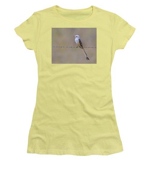 Scissor-tailed Flycatcher Women's T-Shirt (Junior Cut) by Tony Beck