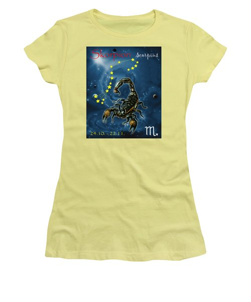 Scorpius And The Stars Women's T-Shirt (Athletic Fit)