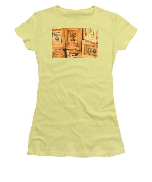 Scott Farm Apple Boxes Women's T-Shirt (Athletic Fit)