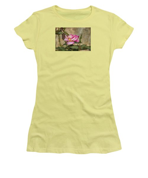 Scripted Rose Women's T-Shirt (Athletic Fit)