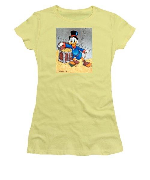Scrooge Mcduck  Women's T-Shirt (Junior Cut) by Victor Minca