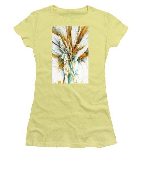 Women's T-Shirt (Athletic Fit) featuring the digital art Sculptural Series Digital Painting 05.072311ex590lvs.jpg  by Kris Haas