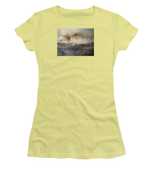 Women's T-Shirt (Junior Cut) featuring the painting Sea Breeze by Tamara Bettencourt