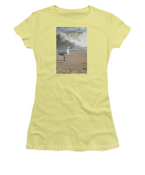 Sea Gull Women's T-Shirt (Junior Cut) by Heidi Poulin