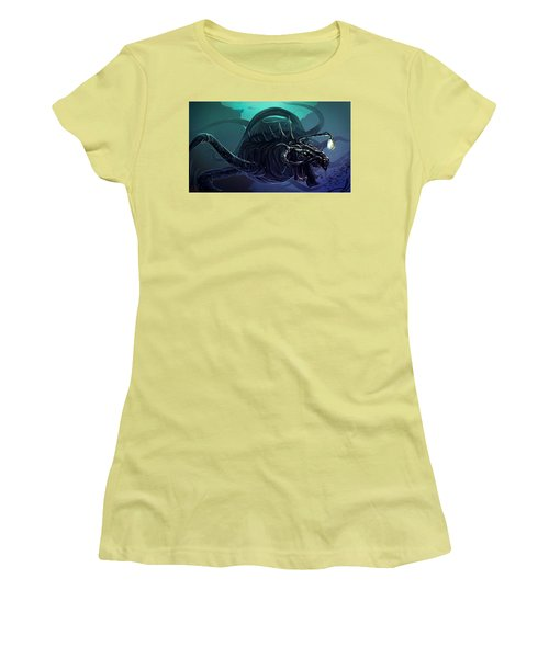 Sea Monster  Women's T-Shirt (Athletic Fit)