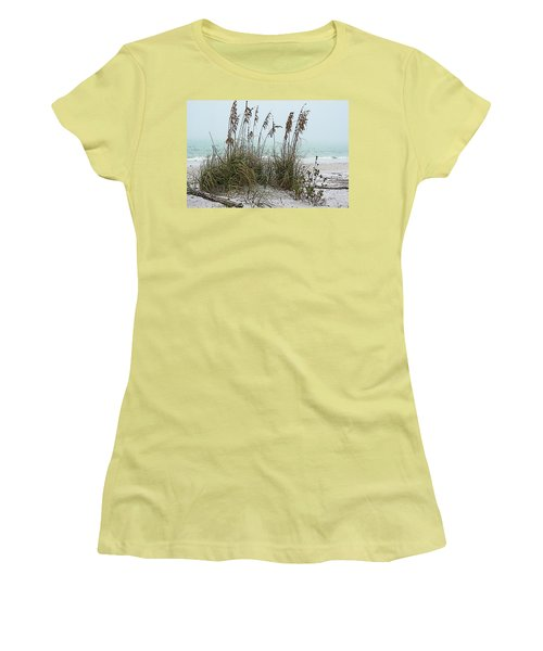 Sea Oats In Light Fog Women's T-Shirt (Athletic Fit)