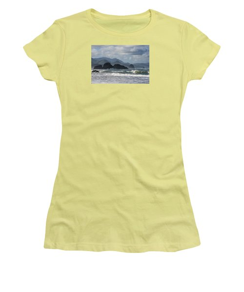 Sea Stacks And Surf Women's T-Shirt (Athletic Fit)