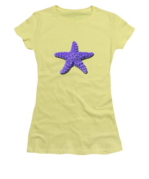 Women's T-Shirt (Junior Cut) featuring the photograph Sea Star Purple .png by Al Powell Photography USA
