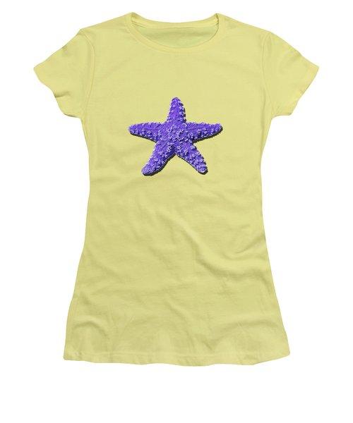 Sea Star Purple .png Women's T-Shirt (Junior Cut) by Al Powell Photography USA