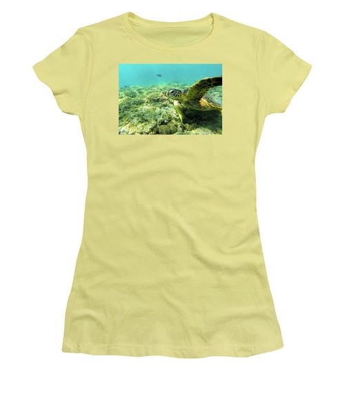 Women's T-Shirt (Junior Cut) featuring the photograph Sea Turtle #2 by Anthony Jones