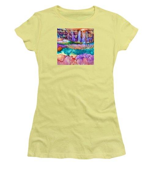 Sea Wall Women's T-Shirt (Junior Cut) by Alene Sirott-Cope