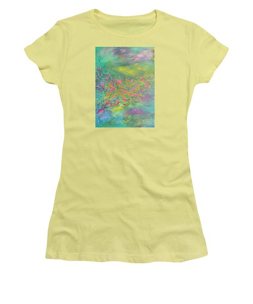 Searching Women's T-Shirt (Junior Cut) by Lyn Olsen