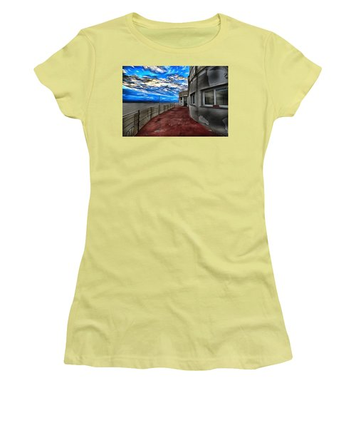 Seascape Atmosphere - Atmosfera Di Mare Dig Paint Version Women's T-Shirt (Athletic Fit)