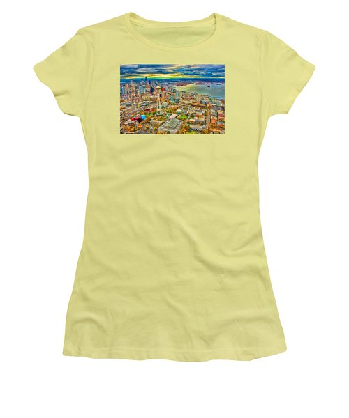 Women's T-Shirt (Junior Cut) featuring the photograph Seattle by Jerry Cahill