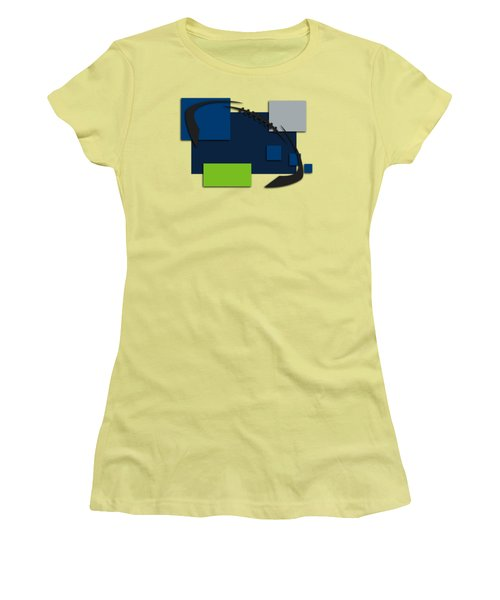 Seattle Seahawks Abstract Shirt Women's T-Shirt (Junior Cut) by Joe Hamilton
