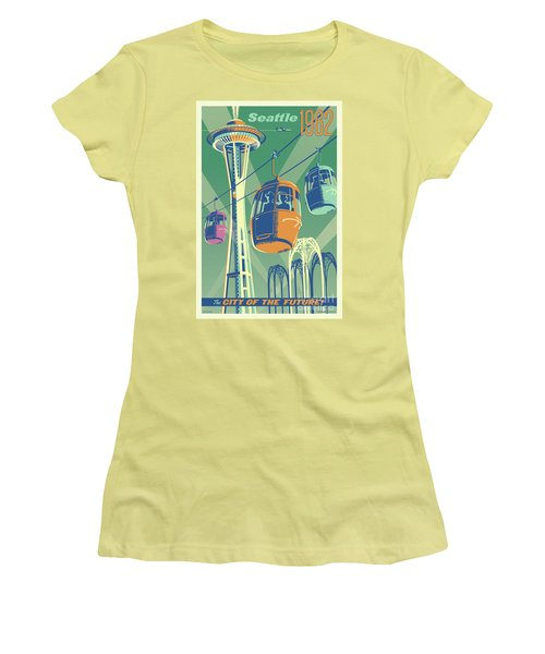 Seattle Space Needle 1962 - Alternate Women's T-Shirt (Junior Cut) by Jim Zahniser