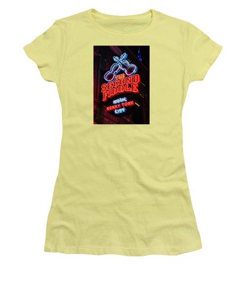 Second Fiddle Women's T-Shirt (Junior Cut) by Stephen Stookey