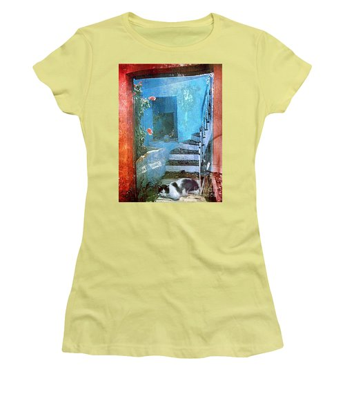 Women's T-Shirt (Junior Cut) featuring the digital art Secret Space by Alexis Rotella