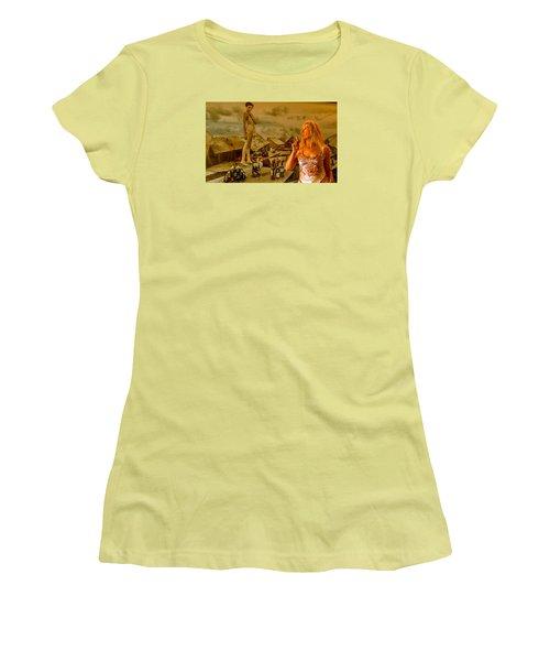 Secrets Women's T-Shirt (Junior Cut) by Yelena Tylkina