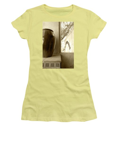 Women's T-Shirt (Junior Cut) featuring the photograph Sedona Series - Jug And Window by Ben and Raisa Gertsberg
