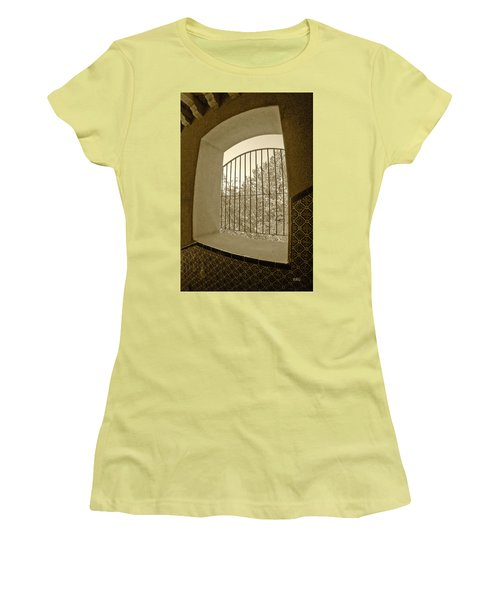 Women's T-Shirt (Junior Cut) featuring the photograph Sedona Series - Through The Window by Ben and Raisa Gertsberg