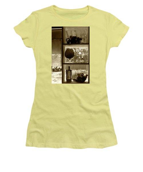 Women's T-Shirt (Junior Cut) featuring the photograph Sedona Series - Window Display by Ben and Raisa Gertsberg