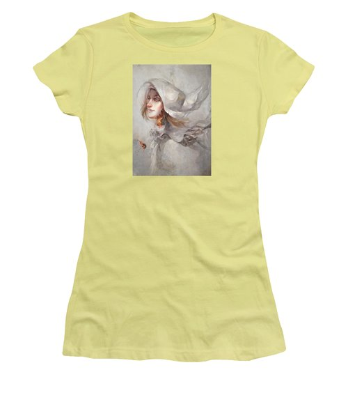 Women's T-Shirt (Junior Cut) featuring the digital art Seek V1 by Te Hu