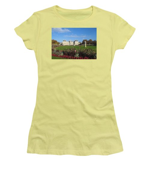 Women's T-Shirt (Junior Cut) featuring the photograph Senate From Jardin Du Luxembourg by Christopher Kirby