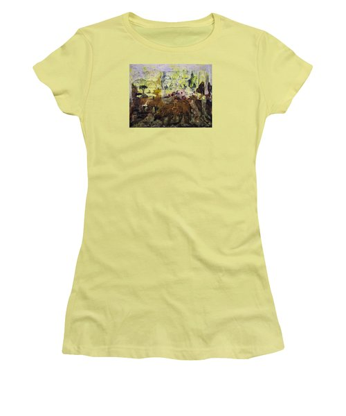 Women's T-Shirt (Junior Cut) featuring the painting Senegambia by Ron Richard Baviello