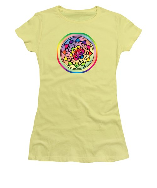 Sephardic Medieval Mandala Women's T-Shirt (Athletic Fit)