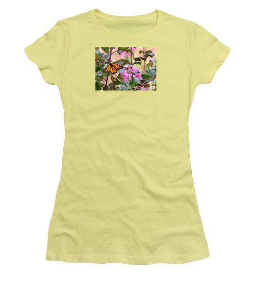 September Monarch Women's T-Shirt (Junior Cut) by Janis Nussbaum Senungetuk
