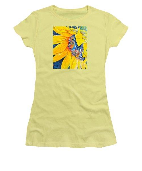 September Sunflower Women's T-Shirt (Athletic Fit)