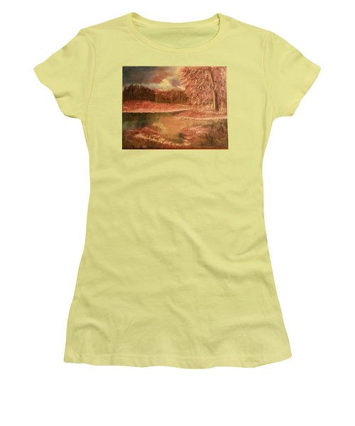 Serene Lake  Women's T-Shirt (Athletic Fit)
