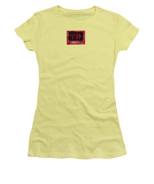 Serenity - Chinese Women's T-Shirt (Junior Cut) by Hailey E Herrera