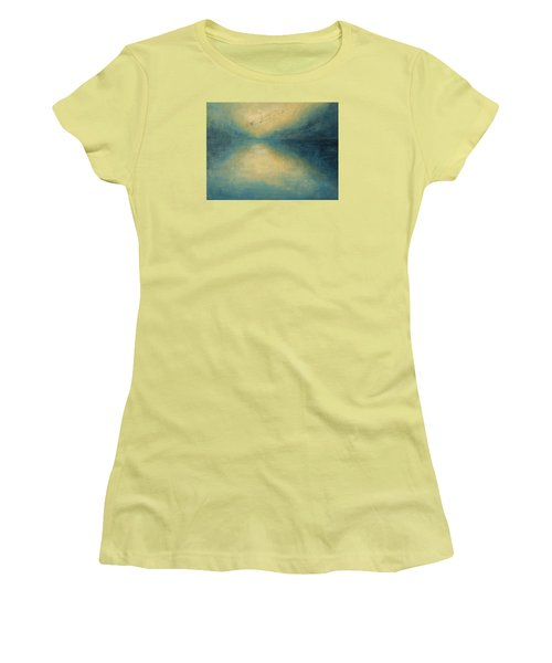 Women's T-Shirt (Junior Cut) featuring the painting Serenity by Jane See
