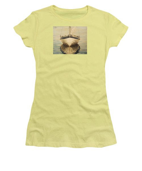 Women's T-Shirt (Junior Cut) featuring the painting Serenity by Natalia Tejera