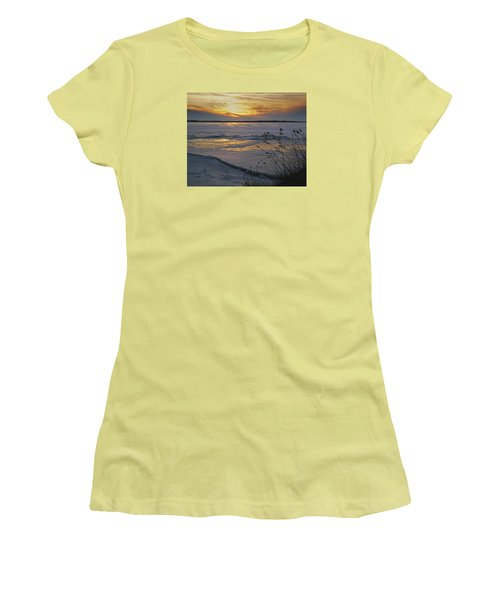 Setting Sun Women's T-Shirt (Junior Cut) by Judy Johnson